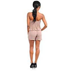Stanzino Women's Strapless Belted Romper - Thumbnail 1