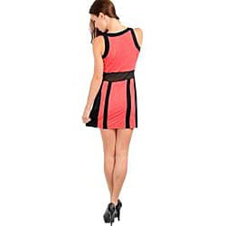 Stanzino Women's Sleeveless Dress with Black Trim
