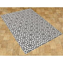 Alliyah Handmade Ivory New Zealand Blend Wool Rug (5' x 8') - Thumbnail 1