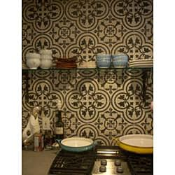 Granada Tile Echo Collection Black and White Cement Tiles (Case of 50) - Thumbnail 1