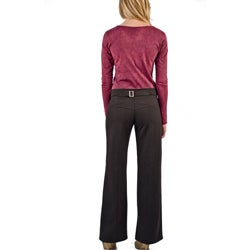 AtoZ Women's Wide Leg Pant