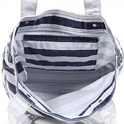 Nikky Mariel Striped Canvas Tote Bag - Thumbnail 1