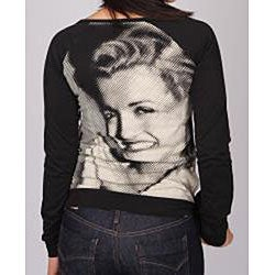 Norma Jeane Junior's 'All Smiles' Black Long Sleeve Top