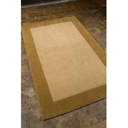 Hand-tufted Gold/ Tan Rug (7'6 x 9'6)