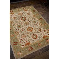 Hand Tufted Ivory Wool Rug (2' x 3') - Thumbnail 1