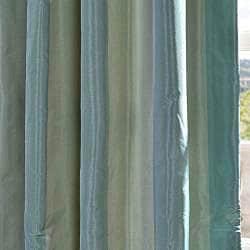 Exclusive Fabrics Signature Stripe Zuma Faux Silk Taffeta Curtain Panel