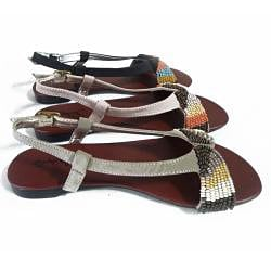 I-Comfort Women's Beaded Sandals - Thumbnail 1