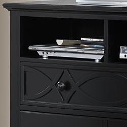 Piston Black Modern Cottage 3-drawer TV Chest