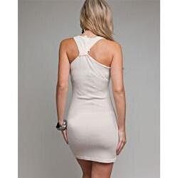 Stanzino Women's Stone Embellished Beige Tank Dress - Thumbnail 1