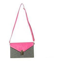 Urban Expressions Mariel Clutch in Berry and Grey - Thumbnail 1