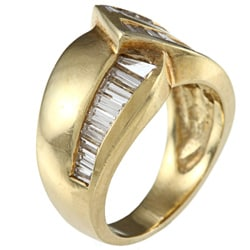 18K Yellow Gold 1 1/2ct TDW Estate Ring (I-J, SI1-SI2) - Thumbnail 1
