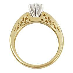 14k Yellow Gold 1 1/5ct TDW Diamond Bridal Ring Set (G-H, SI1-SI2) - Thumbnail 1