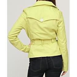 Jou Jou Juniors' Lime Sateen Belted Jacket
