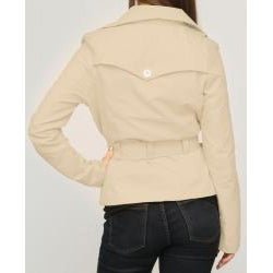 Jou Jou Juniors' Khaki Sateen Belted Jacket - Thumbnail 1