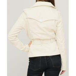 Jou Jou Juniors' Stone Sateen Belted Jacket