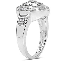 14k Gold over Sterling Silver 1/4ct TDW Diamond Ring (I-J, I3)