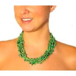 Luzy Aventurine and Glass Bead Necklace (Guatemala) - Thumbnail 1