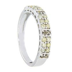 10k White Gold 2/5ct TDW Brown Diamond Fashion Ring - Thumbnail 1