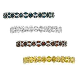 10k Gold 1/4 ct TDW Vintage-Inspired Diamond Stackable Ring - Thumbnail 1