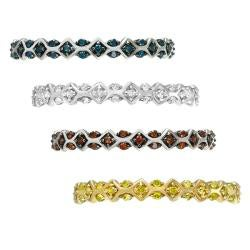 10k Gold 1/4 ct TDW Vintage-Inspired Diamond Stackable Ring