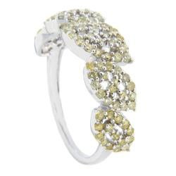 D'sire 10k White Gold 9/10ct TDW Yellow Diamond Fashion Ring (SI2)