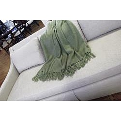 Liz Willow Acrylic Mohair Throw - Thumbnail 1