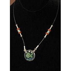 Seminario Ceramic and Silver Necklace (Peru)