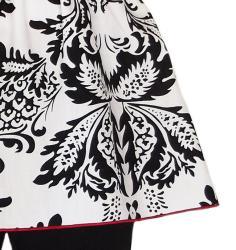 AnnLoren Girls' 2-piece Black/ Red Damask Outfit