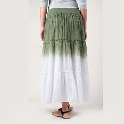 Tabeez Women's Dip Dye Voile Skirt - Thumbnail 1