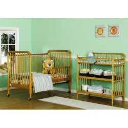 DaVinci Jenny Lind Oak 3-in-1 Crib with Bonus Toddler Rail