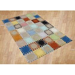 Alliyah Handmade Multicolored New Zealand Blend Wool Rug (8' x 10') - Thumbnail 1