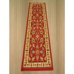 Pat Mahal Oriental Red Rug (2' x 7'3) - Thumbnail 1