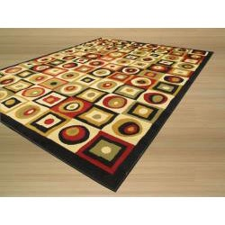 Pat Geo Abstract Red Rug (4'9 x 6'6)