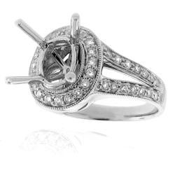 14k White Gold 1/2ct TDW Diamond Semi-mount Engagement Ring (G-H, SI1/SI2) - Thumbnail 1