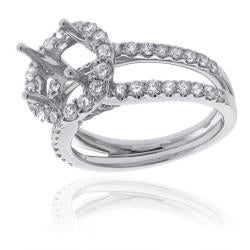 14k White Gold 1ct TDW Diamond Semi-mount Engagement Ring (G-H, SI1/SI2) - Thumbnail 1