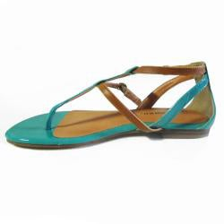 I-Comfort Women's Two-tone Teal Gladiator Sandals - Thumbnail 1
