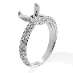 14k White Gold 1ct TDW Diamond Engagement Ring - Thumbnail 1
