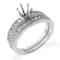 14k White Gold 1/2ct TDW Diamond Engagement Ring - Thumbnail 1