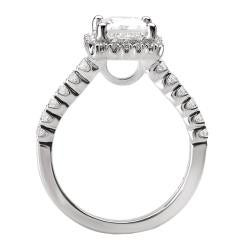 Avanti 14k White Gold 1/3ct TDW Diamond Halo Engagement Ring (G/H, SI1-SI2) - Thumbnail 1