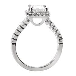 Avanti 14k White Gold 1/3ct TDW Diamond Halo Engagement Ring (G/H, SI1-SI2) - Thumbnail 1