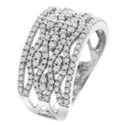 14k White Gold 1-1/20ct White Diamond Cocktail Ring (I1-I2)