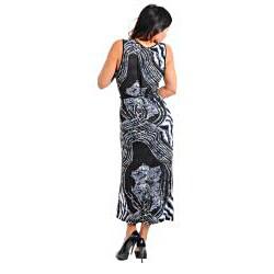Stanzino Women's Plus Animal Print Maxi Dress - Thumbnail 1