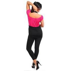 Stanzino Women's Plus Size Off Shoulder Layered Top - Thumbnail 1