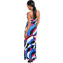 Stanzino Women's Abstract Halter Maxi Dress