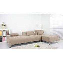 Atlanta Stone Convertible Sectional Sofa Bed