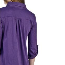 AtoZ Women's Basic Ruched Shirt - Thumbnail 1
