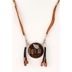 Seminario Ceramic and Silver Necklace (Peru) - Thumbnail 1