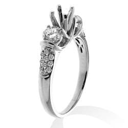 14k White Gold 3/4ct TDW Diamond Semi-mount Engagement Ring (G-H, SI1/SI2) - Thumbnail 1