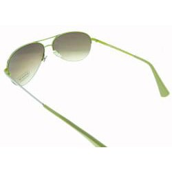 Coach Women's Aviator Silver and Green Frame Sunglasses - Thumbnail 1