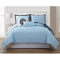 VCNY Dalton 5-piece Reversible Comforter Set - Thumbnail 1